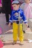 Μπύρα-Sheva, ΙΣΡΑΗΛ - 5 Μαρτίου 2015: Το μικρό παιδί έντυσε ως χαρακτήρας της Disney με ένα ξίφος Στοκ Εικόνες