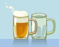 μπύρες δύο Ελεύθερη απεικόνιση δικαιώματος