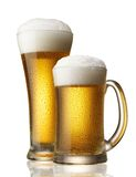 μπύρες δύο Στοκ Εικόνες
