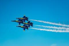 Μπλε άγγελοι στο σχηματισμό Στοκ φωτογραφίες με δικαίωμα ελεύθερης χρήσης