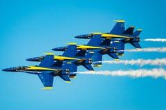 Μπλε άγγελοι στο σχηματισμό Στοκ Φωτογραφία
