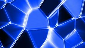 Μπλε άνευ ραφής βρόχος υποβάθρου κινήσεων μωσαϊκών αφηρημένος φιλμ μικρού μήκους