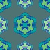 Μπλε άνευ ραφής εθνική διακόσμηση Στοκ εικόνες με δικαίωμα ελεύθερης χρήσης