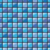 Μπλε άνευ ραφής διανυσματικό σχέδιο μωσαϊκών Στοκ Φωτογραφία