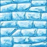 Μπλε άνευ ραφής σχέδιο πάγου ελεύθερη απεικόνιση δικαιώματος