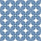 Μπλε άνευ ραφής σχέδιο στο άσπρο υπόβαθρο Στοκ Εικόνες