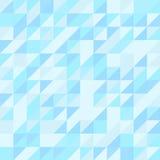 Μπλε άνευ ραφής σχέδιο τριγώνων ανασκόπηση γεωμετρική Στοκ Εικόνα