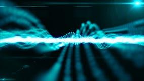 Μπλε άνευ ραφής υπόβαθρο μορίων ικανό στο βρόχο απόθεμα βίντεο