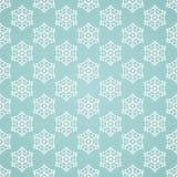 Μπλε άνευ ραφής snowflake σχέδιο Στοκ Εικόνες