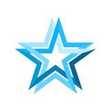 Μπλε άπειρος βρόχος αστεριών Στοκ εικόνα με δικαίωμα ελεύθερης χρήσης