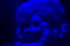 Μπλε άποψη ελαφριάς γωνίας κουκλών φρίκης Στοκ εικόνες με δικαίωμα ελεύθερης χρήσης