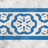 Μπλε άσπρος άνευ ραφής κεραμιδιών Στοκ Εικόνες
