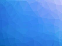 Μπλε άσπρο αφηρημένο διαμορφωμένο πολύγωνο υπόβαθρο κλίσης Στοκ Εικόνες