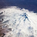 Μπλε άσπρο βουνό χιονιού Στοκ εικόνες με δικαίωμα ελεύθερης χρήσης