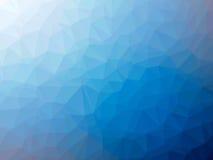 Μπλε άσπρο διαμορφωμένο πολύγωνο υπόβαθρο κλίσης Στοκ Εικόνα