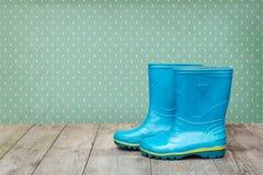μπλε λάστιχο μποτών Στοκ εικόνα με δικαίωμα ελεύθερης χρήσης