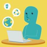μπλε άτομο Στοκ εικόνες με δικαίωμα ελεύθερης χρήσης