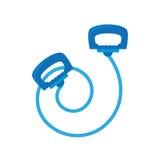 Μπλε άλμα rope LE sport Στοκ εικόνες με δικαίωμα ελεύθερης χρήσης