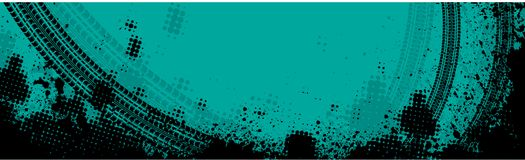 Μπλε έμβλημα διαδρομής ροδών Στοκ Εικόνες