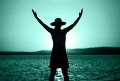 Μπλε έννοιας προγύμνασης ζωής στοκ εικόνα με δικαίωμα ελεύθερης χρήσης