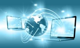 μπλε έννοια Διαδίκτυο χρώματος ανασκόπησης Στοκ Εικόνες