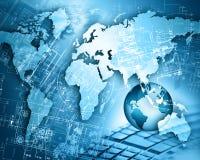 μπλε έννοια Διαδίκτυο χρώματος ανασκόπησης Στοκ φωτογραφία με δικαίωμα ελεύθερης χρήσης