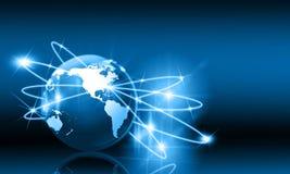 μπλε έννοια Διαδίκτυο χρώματος ανασκόπησης Στοκ Εικόνα