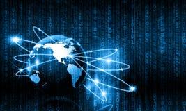 μπλε έννοια Διαδίκτυο χρώματος ανασκόπησης Στοκ Φωτογραφία