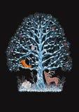 μπλε δέντρο Στοκ Εικόνες