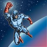 Μπλε ήρωας 1 μασκών διανυσματική απεικόνιση