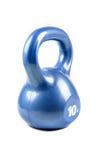 Μπλε 10 λίβρα kettlebell Στοκ Εικόνες