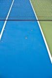 Μπλε δίκτυο γηπέδου αντισφαίρισης Στοκ εικόνες με δικαίωμα ελεύθερης χρήσης