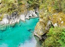 Μπλε λίμνες, ΑΜ Εθνικό πάρκο επιδίωξης, Νέα Ζηλανδία Στοκ Εικόνες