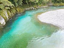 Μπλε λίμνες, Νέα Ζηλανδία Στοκ φωτογραφία με δικαίωμα ελεύθερης χρήσης