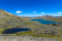 Μπλε λίμνες νερού στο βουνό Πλάτωνας Στοκ Εικόνες