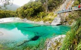 Μπλε λίμνες, νότιο νησί, Νέα Ζηλανδία Στοκ φωτογραφία με δικαίωμα ελεύθερης χρήσης