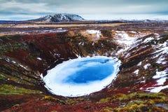 Μπλε λίμνη ηφαιστείων Στοκ Φωτογραφία