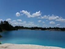 Μπλε λίμνη καολίνη Στοκ Εικόνες