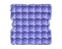 Μπλε δίσκος τα αυγά που απομονώνονται για Στοκ εικόνες με δικαίωμα ελεύθερης χρήσης