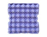Μπλε δίσκος τα αυγά που απομονώνονται για Στοκ Εικόνες