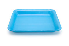 Μπλε δίσκος τροφίμων Στοκ Φωτογραφία