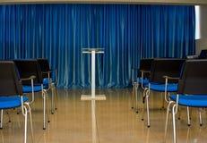 Μπλε αίθουσα συνδιαλέξεων Στοκ Εικόνες