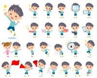 Μπλε αγόρι 2 ιματισμού Στοκ εικόνα με δικαίωμα ελεύθερης χρήσης