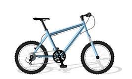 Μπλε αθλητικό ποδήλατο Στοκ εικόνες με δικαίωμα ελεύθερης χρήσης