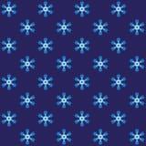 Μπλε ακανθωτό snowflake τύλιγμα Στοκ Εικόνες
