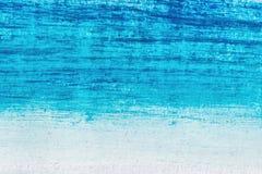 Μπλε ακρυλικά κτυπήματα, μορφές και κλίσεις βουρτσών ελεύθερη απεικόνιση δικαιώματος