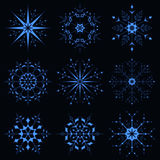 Μπλε λαμπιρίζοντας snowflake Στοκ φωτογραφία με δικαίωμα ελεύθερης χρήσης