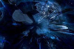 Μπλε λαμπρή επιφάνεια γυαλιού Στοκ εικόνες με δικαίωμα ελεύθερης χρήσης