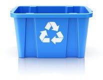 Μπλε ανακύκλωσης κλουβί Στοκ Φωτογραφίες