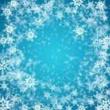 Μπλε ανασκόπηση με snowflakes διάνυσμα ελεύθερη απεικόνιση δικαιώματος